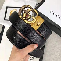 GUCCI Trending Woman Men Personality Snake Buckle Belt Leather Belt With Box