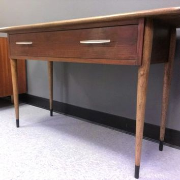 Mid Century Vintage Lane Acclaim Walnut Sofa Table