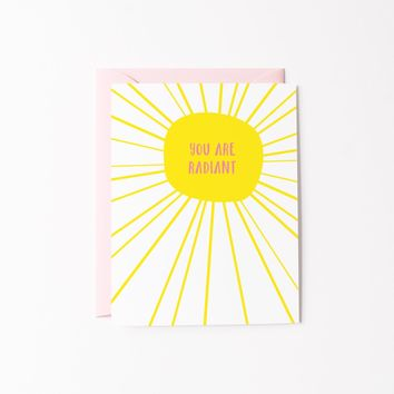 You Are Radiant card