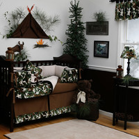 Boy Baby Crib Bedding: Green Camo 2-Piece Crib Bedding Set by Carousel Designs