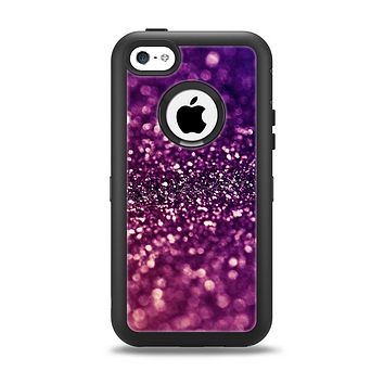 The Unfocused Purple & Pink Glimmer Apple iPhone 5c Otterbox Defender Case Skin Set