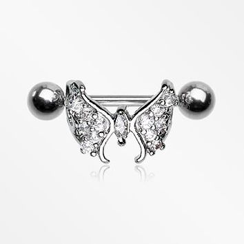 Majestic Butterfly Sparkles Cartilage Cuff Earring