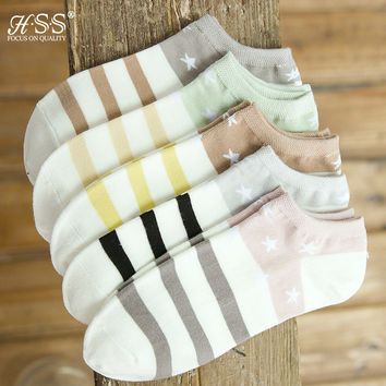 HSS Brand Bamboo Fiber Socks Summer Coolmax Men's Stripe socks Hommes Chaussettes Invisibles Ankle Cotton Dress Socks Sokken
