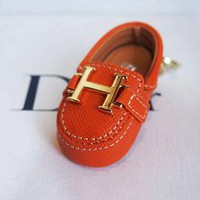 """Hermes"" Fashionable Chic Creative Mini Cowhide Bag Small Shoes Hanging Drop Car Key Chain Bag Accessories Orange"