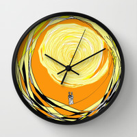Walking on Sunshine Wall Clock by RokinRonda