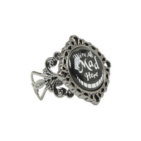 Disney Alice In Wonderland All Mad Here Filigree Ring