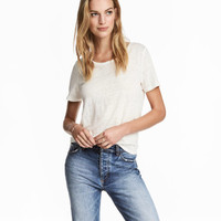 H&M Linen Scoop-neck Top $17.99