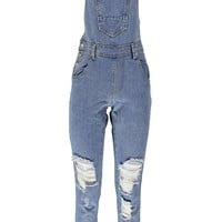 Amy Indigo Stone Wash Denim Dungaree