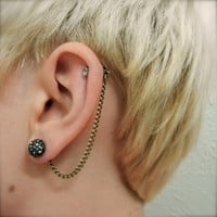 Cartilage Chain on Earring Backs - Bronze