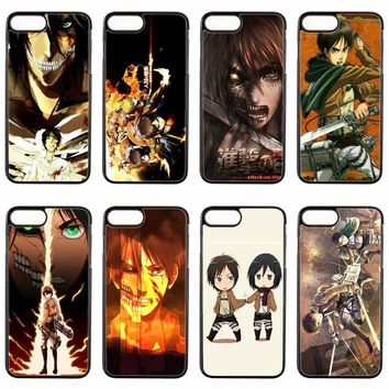 Cool Attack on Titan anime  eren cover case For ipod touch iPhone 4 4s 5 5s 5c SE 6 6s plus 7 7plus 8 8plus X phone case AT_90_11
