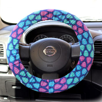 Steering Wheel Cover Bow Wheel Car Accessories Lilly Heated For Girls Interior Aztec Monogram Tribal Camo Cheetah Sterling Chevron Leafs