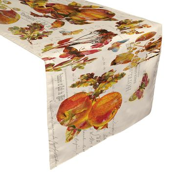 Antique Autumn Table Runner