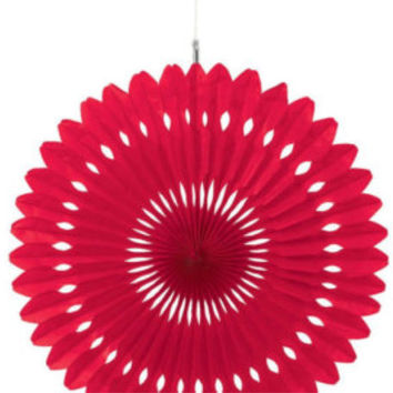 Paper fan Red decorations //  Photo booth prop // children's party decor // Pinwheel // Wedding backdrop  / Pomwheel / Party Decoration