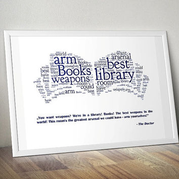 Books, Doctor Who - Printable Poster - Digital Art - Download and Print