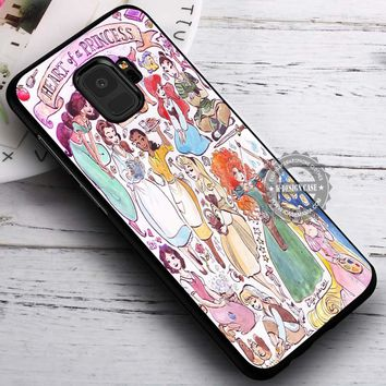 Heart of Disney Princess iPhone X 8 7 Plus 6s Cases Samsung Galaxy S9 S8 Plus S7 edge NOTE 8 Covers #SamsungS9 #iphoneX