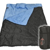 "Best Choice Products® Huge Double Sleeping Bag 23F/-5C 2 Person Camping Hiking 86""x60"" W/2 Pillows New"