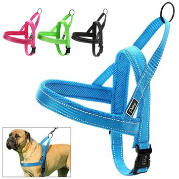 No Pull Nylon Quick Fit Reflective Stitching Dog Harness & Cat Harness