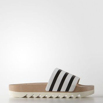 adidas adilette Wood Slides - White | adidas US