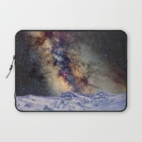 The star Antares, Scorpius and Sagitariuss over the hight mountains. The milky way. Laptop Sleeve by Guido Montañés