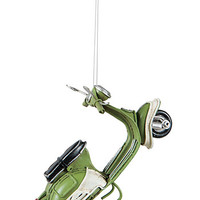Mod Squad Vintage Scooter Ornament in Green