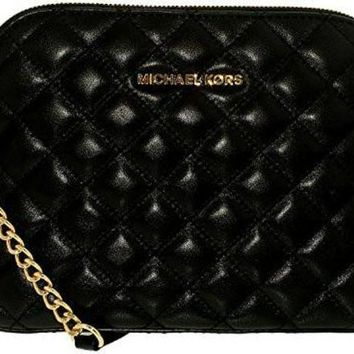 Michael Kors Cindy Large Leather Dome Crossbody