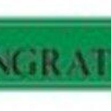 graduation foil banner - green Case of 12