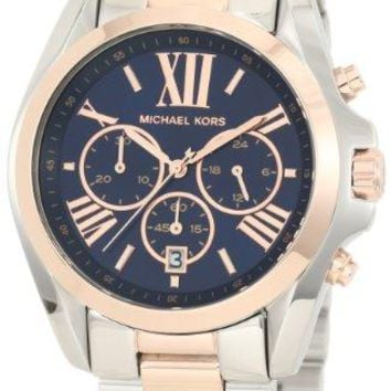 Michael Kors - Mid-Size Bradshaw Chronograph Watch, Silver-Color/Rose Golden - MK5606
