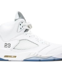 "Air Jordan 5 "" White Metallic Silver"""