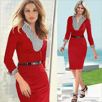 2016 Autumn Office Dresses Elegant Midi Fashion Women Work Dress Brand US Standard Design Business Party Sheath Pencil Dress = 1932751364