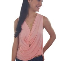 Ellie Cowl Neck Top - Blush | ZOE Boutique