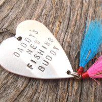 New Parents Gift for Dad or Mom of Twins New Fishing Buddy Mommy's Boy Daddy's Girl Gender Reveal Fishing Lure Grandpa New Baby Son Daughter