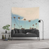 Palm trees Wall Tapestry by sylviacookphotography