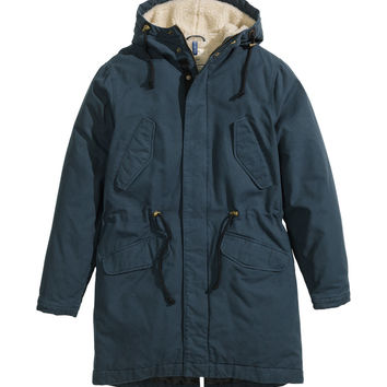 H&M - Pile-lined Parka - Gray-green - Men