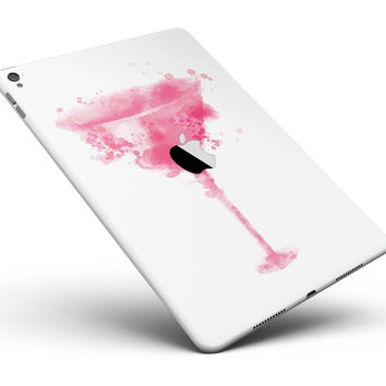 """Pretty in Pink Martini V2 Full Body Skin for the iPad Pro (12.9"""" or 9.7"""" available)"""