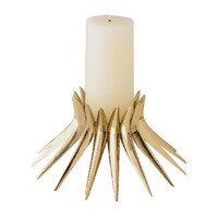 Corona Candle Holder in Brass
