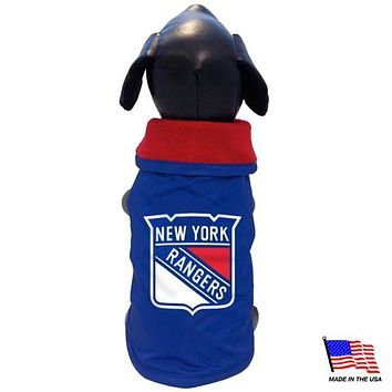 New York Rangers Weather-Resistant Blanket Pet Coat