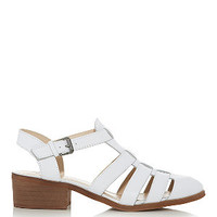 Limited White Leather Cut Out Gladiator Sandals