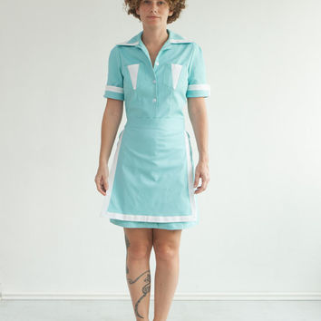 SALE!! The Twin Peaks Full Costume, Double R Diner Dress