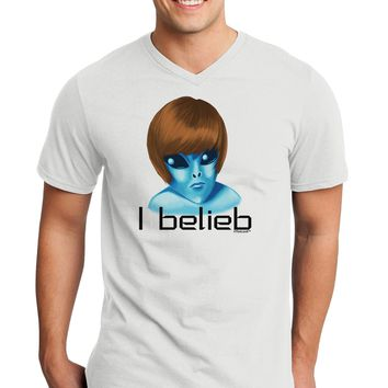 Extraterrestial - I Belieb Adult V-Neck T-shirt by TooLoud