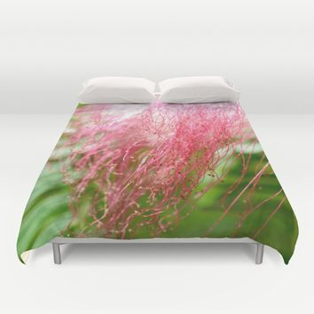 Pink Costa Rican Flower Duvet Cover by UMe Images