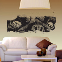 Vinyl Wall Decal Sticker Pug Eyes #5516