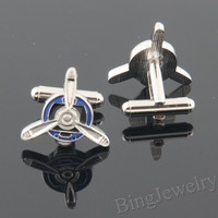 Mens Cufflinks Airplane Pro-peller Cuff links- Geekery Plane Cufflinks Design Personalized Man Cufflink, Mens Gift Ideas