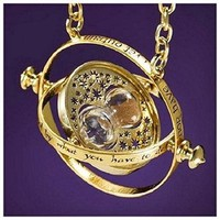 Harry Potter Hermione 18k Gold TIME TURNER NECKLACE Noble Wizard World