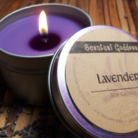 LAVENDER Soy Candle - Aromatherapy for Stress Relief, Anxiety & Better Sleep