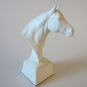 Astrope White Horse Bust Equestrian Royal Worcester Fine Bone China England