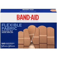 Band-Aid Flexible Fabric Assorted Bandages, 100 count - Walmart.com