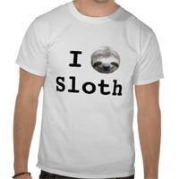 I Heart Sloth Shirt from Zazzle.com