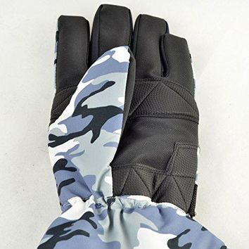 Strong Camel New Warm Mens W.P. Waterproof Work Gloves Ski Glove Motorcycle Waterproof Winter Camouflage L