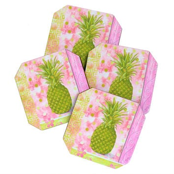 Madart Inc. Fresh Pineapple Coaster Set