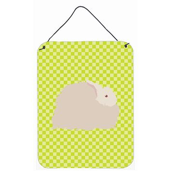 Fluffy Angora Rabbit Green Wall or Door Hanging Prints BB7785DS1216